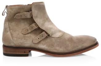 John Varvatos Fleetwood Loop & Bin Suede Chelsea Boots
