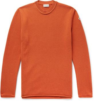 Moncler Logo-Appliqued Wool and Cashmere-Blend Sweater - Men - Orange