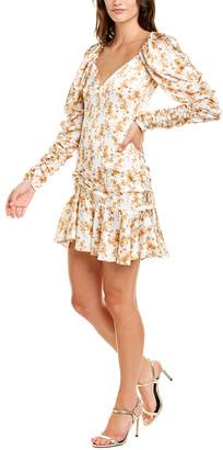 Caroline Constas Evelyn Silk-Blend Mini Dress