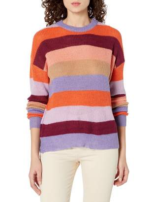 J.o.a. Women's Striped Knit Pullover Sweater