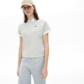 Lacoste Womens Striped Polo