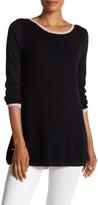 Cullen Multi Stitch Curved Zip Back Sweater