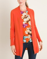 Chico's Chicos Floral Back-Detail Cardigan