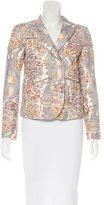 Carven Map Print Notch-Lapel Blazer