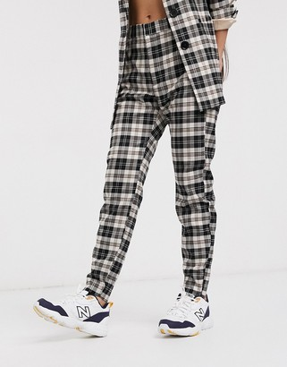 InWear Jannah tailored pant in brown check