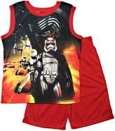 Disney Star Wars The Force Awakens Big Boys Short Pajama Set (Medium, 8)