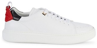 Buscemi Uno Sport Leather Platform Sneakers