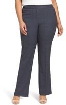 Sejour Plus Size Women's Marine Flare Leg Pants