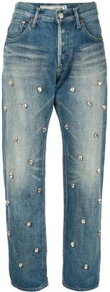 Tu es mon TRÉSOR bijou crystal studded jeans