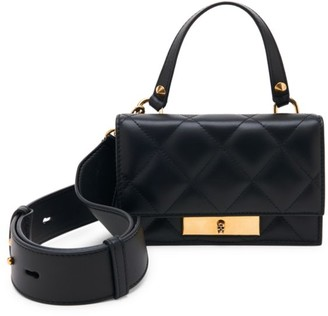 Alexander McQueen Small Skull Lock Quilted Leather Top Handle Bag