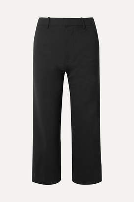 Co Cropped Woven Straight-leg Pants - Black