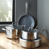 Crate & Barrel ZWILLING ® J.A. Henckels VistaClad Ceramic Non-Stick 7-Piece Cookware Set