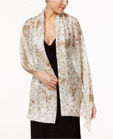 Calvin Klein Floral Metallic Wrap & Scarf in One