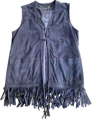 MARINA B Brown Leather Knitwear