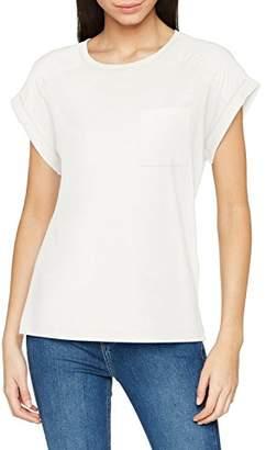 Vero Moda Women's Vmava O-Neck Ss Chiffon Top Ga T-Shirt, Black, 12 (Size: Medium)