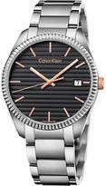 Calvin Klein Ladies Swiss Alliance Striped Dial Stainless Steel Bracelet Watch