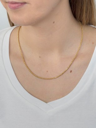 9ct Gold 18 inch Spiga chain necklace