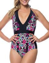 Jessica Simpson Halter One-Piece Swimsuit