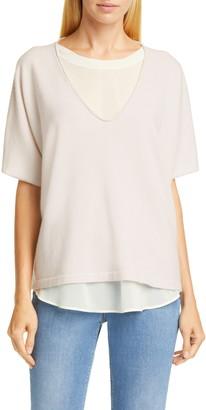 Fabiana Filippi Chiffon Layer Cashmere Sweater
