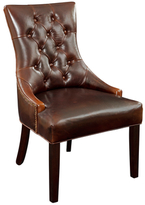 Bassett Mirror Tufted Leather Dining Chair