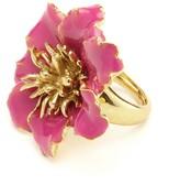 Oscar de la Renta Painted Floral Ring