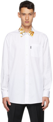 Versace White Barocco Collar Shirt