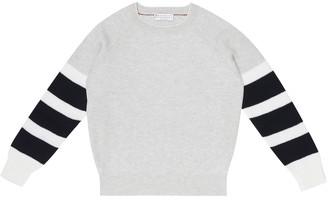 BRUNELLO CUCINELLI KIDS Exclusive to Mytheresa Colorblocked cotton sweater