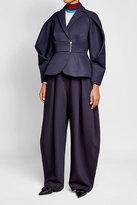 DELPOZO Wide-Leg Wool Pants with Silk