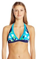 adidas Women's Diamond Gradient Print Halter Bikini Top