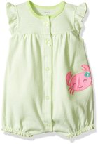 "Carter's Baby Girls' ""Stripes & Crab"" Romper"