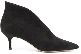 Gianvito Rossi Vania 55 Suede Ankle Boots - Black