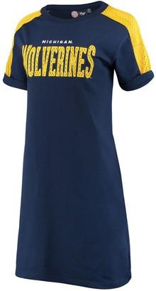 G Iii Women's G-III 4Her by Carl Banks Navy Michigan Wolverines Training Camp Tee Dress