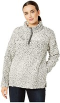 True Grit Dylan By Dylan by Frosty Tipped Pile 1/4 Zip Stadium Pullover (Charcoal) Women's Clothing