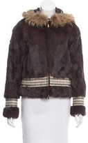 Tory Burch Rabbit Fur Jacket