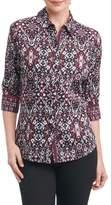 Foxcroft Petite Women's Ava Heirloom Paisley Shirt