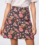 LOFT Poppy Bloom Shift Skirt