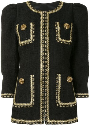 Andrew Gn Embroidered Tweed Jacket