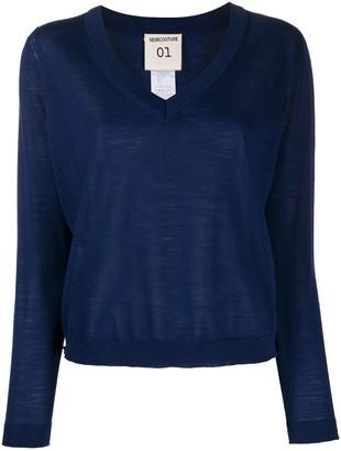 Semi-Couture Gertrude v-neck jumper