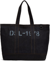 Diesel Indigo and Black D-Thisbag Shopping Tote