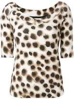Marc Cain leopard print blouse