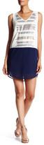 Adelyn Rae V-Neck Sleeveless Embellished Sequin Colorblock Dress