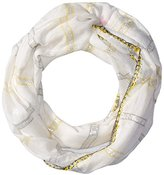 Betsey Johnson Women's Metallic with Color-Stripe Infinity Scarf