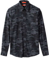 Joe Fresh Men's Camo Print Flannel Shirt, Dark Charcoal (Size XXL)