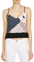 French Connection Samba Avenue Floral Print Crop Top