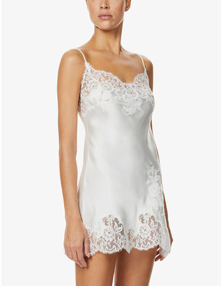 Marjolaine Gemma silk and lace chemise