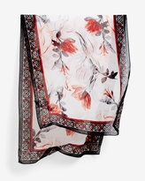 White House Black Market Floral-Print Oblong Scarf