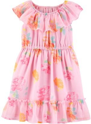 Osh Kosh Toddler Girl Floral Ruffle Dress