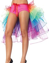 Leg Avenue Layered Organza Rainbow Bustle Skirt