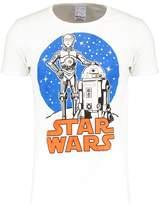 Logoshirt Star Wars Droids Print Tshirt Almost White