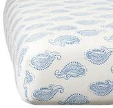 Rikshaw Organic Taj Blue Crib Fitted Sheet